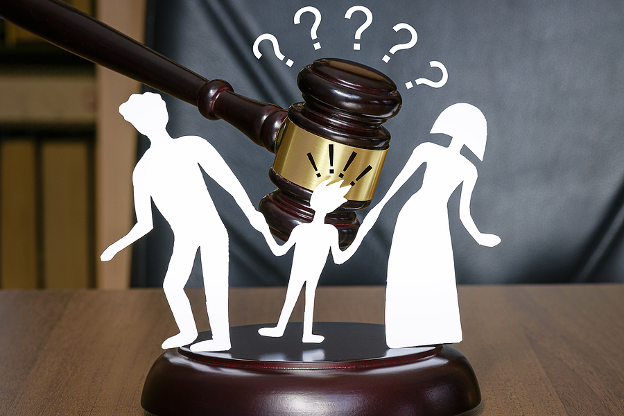 Children's right when parents are separating. Family Law Sydney justice system concept