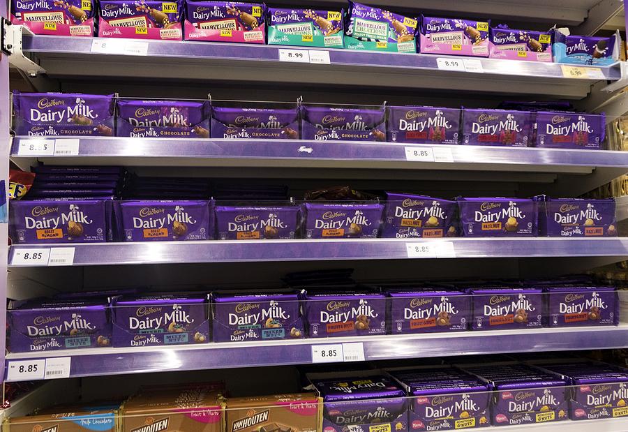 Cadbury stall in a British sweet shop